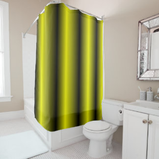 Yellow And Black Stripe Bumblebee Design Shower Curtain