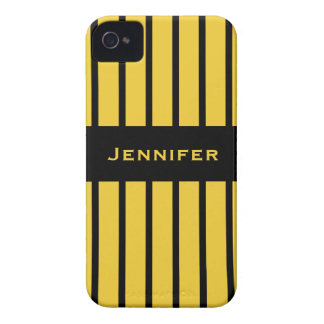 Yellow and Black Stripe iPhone Case