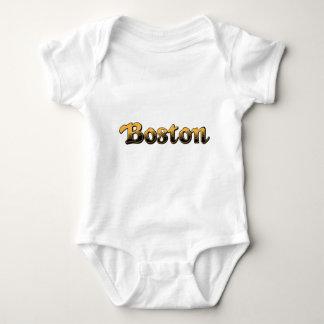 yellow and black striped Boston Baby Bodysuit