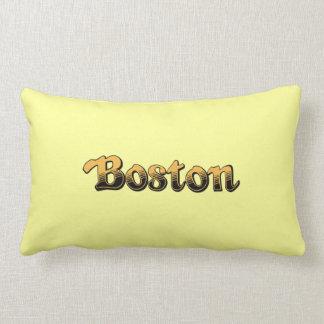 yellow and black striped Boston Lumbar Pillow