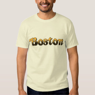 yellow and black striped Boston T Shirt
