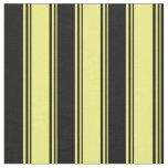 [ Thumbnail: Yellow and Black Striped Pattern Fabric ]
