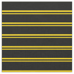 [ Thumbnail: Yellow and Black Stripes Fabric ]