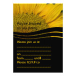 Yellow and Black Sunflower Personalized Invite