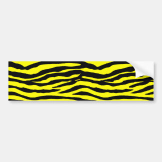 Yellow and Black Tiger Stripes Bumper Stickers