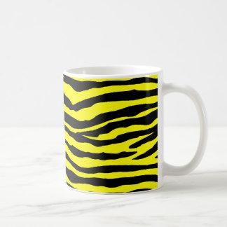 Yellow and Black Tiger Stripes Coffee Mug