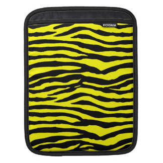 Yellow and Black Tiger Stripes Sleeves For iPads