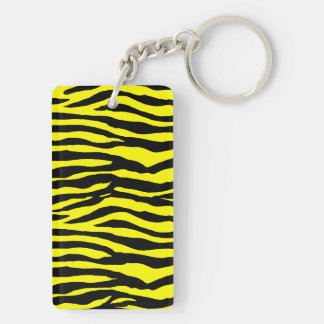 Yellow and Black Tiger Stripes Keychain