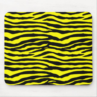 Yellow and Black Tiger Stripes Mouse Pad