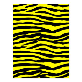 Yellow and Black Tiger Stripes Postcard