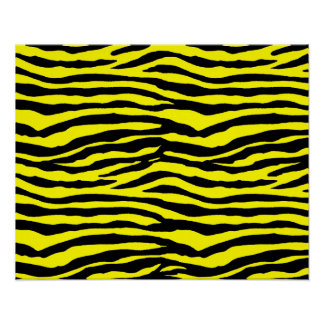 Yellow and Black Tiger Stripes Poster