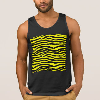 Yellow and Black Tiger Stripes Tank Top