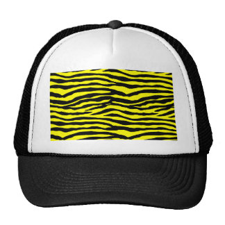 Yellow and Black Tiger Stripes Trucker Hats