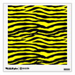 Yellow and Black Tiger Stripes Wall Decal
