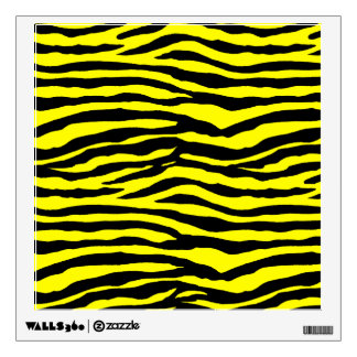 Yellow and Black Tiger Stripes Wall Sticker