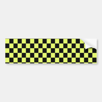 yellow and black tiles bumper sticker