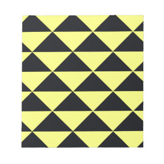 Yellow and Black Triangles Notepad