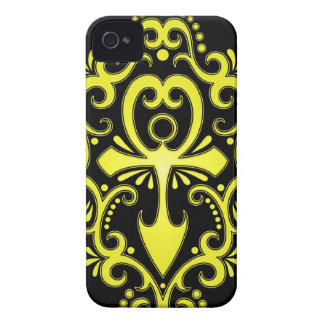 Yellow and Black Tribal Ankh iPhone 4 Case