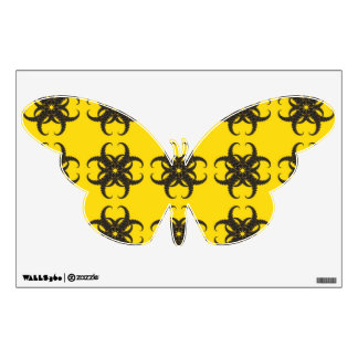Yellow and Black Tribal Fractal Pattern Room Decal