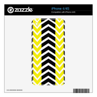 Yellow and Black Whale Chevron iPhone 4 Decals