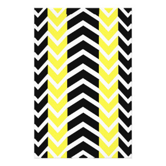 Yellow and Black Whale Chevron Stationery