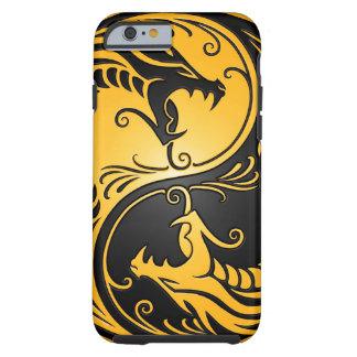 Yellow and Black Yin Yang Dragons Tough iPhone 6 Case