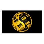 Yellow and Black Yin Yang Guitars Double-Sided Standard Business Cards (Pack Of 100)