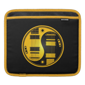 Yellow and Black Yin Yang Guitars Sleeve For iPads