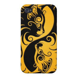 Yellow and Black Yin Yang Kittens iPhone 4/4S Cover