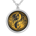 Yellow and Black Yin Yang Kittens Jewelry