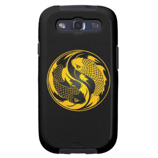 Yellow and Black Yin Yang Koi Fish Galaxy S3 Case