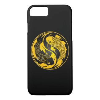 Yellow and Black Yin Yang Koi Fish iPhone 8/7 Case