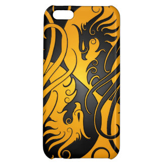 Yellow and Black Yin Yang Phoenix iPhone 5C Cover