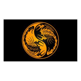 Yellow and Black Yin Yang Scorpions Business Card