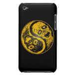 Yellow and Black Yin Yang Zombies iPod Touch Covers