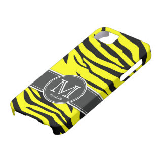 Yellow and Black Zebra stripes iPhone SE/5/5s Case