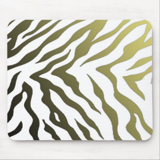 Yellow and Black Zebra Stripes Mouse Pad