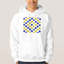 Yellow and Blue Basketball Pattern Hoodie