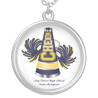 Yellow and Blue Cheerleader Necklace