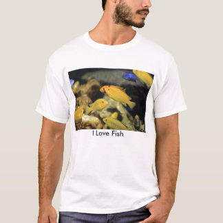 Yellow and Blue Ciclid Reef Fish T-Shirt