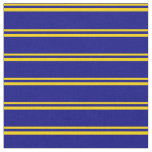 [ Thumbnail: Yellow and Blue Colored Stripes Fabric ]