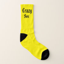 Yellow and Blue Crazy Sox Socks