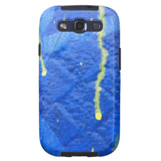 Yellow and Blue distressed background Galaxy SIII Cover
