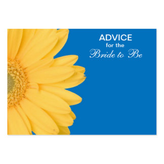 Yellow and Blue Gerber Daisy Advice for the Bride Large Business Card