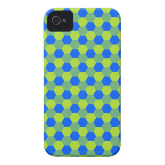 Yellow and blue honeycomb pattern iPhone 4 cover