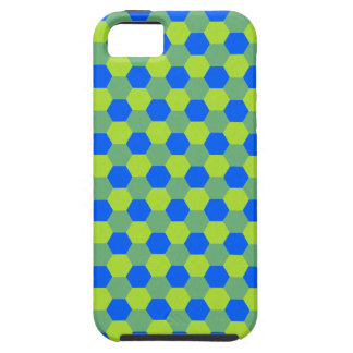 Yellow and blue honeycomb pattern iPhone SE/5/5s case