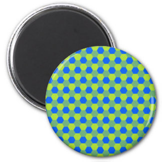 Yellow and blue honeycomb pattern magnet