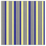 [ Thumbnail: Yellow and Blue Lines Fabric ]