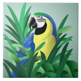 parrot tiles