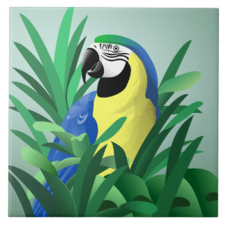 Yellow and Blue Macaw Tile